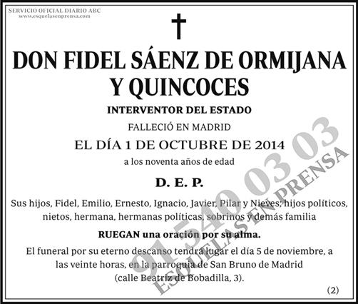 Fidel Sáenz de Ormijana y Quincoces